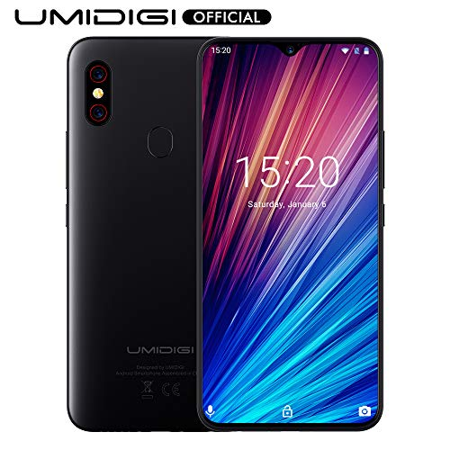 "UMIDIGI F1 Play with 6GB+64GB Memory Android 9.0 48MP+8MP+16MP Cameras 5150mAh 6.3"" FHD+ Global Version Smartphone Dual 4G LTE Cell Phone Unlocked (Red)"
