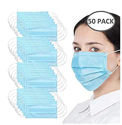 50PCS Monouso a 3 Strati Filtro Antipolvere Copertura non Tessute Protezione,Dimensioni Universali