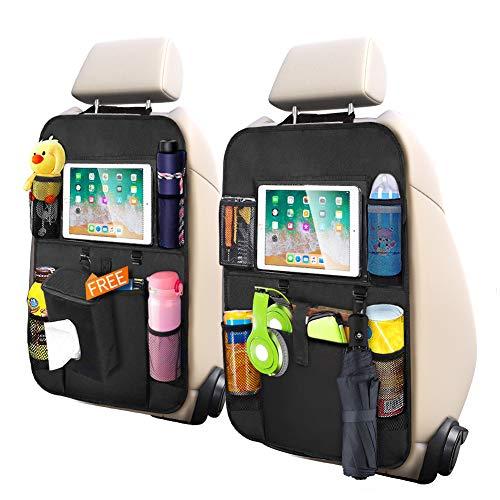 Protezione Sedili Auto Bambini 2pcs Organizzatore Sedile Posteriore Auto Impermeabile Sedile...