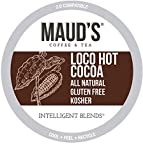 Maud's Hot Chocolate (Loco Hot Cocoa), 50ct. Recyclable Single Serve Dairy Free Hot Cocoa Pods – 100% California Blended Hot Chocolate Mix, Keurig Hot Chocolate K Cup Compatible Including 2.0