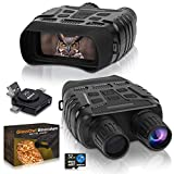 CREATIVE XP Digital Night Vision Binoculars for 100% Darkness - Save Photos & Videos with Audio – 4x35 mm Infrared Spy Gear for Hunting & Surveillance – Large Screen & 1000ft Viewing Range – 32GB Card