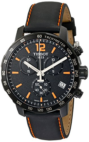 Tissot Herren-Armbanduhr Chronograph Quarz Leder T095.417.36.057.00