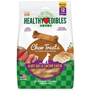 Review for Nylabone Healthy Edibles All-Natural Long Lasting Roast Beef and Chicken Flavor Chew Treats