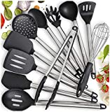 Home Hero 11 Silicone Cooking Utensils Kitchen Utensil Set - Stainless...