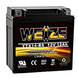 Weize YTX14 BS ATV Battery High Performance - Maintenance Free - Sealed AGM YTX14-BS Motorcycle Battery For Honda Suzuki Kawasaki Yamaha scooter snowmobile