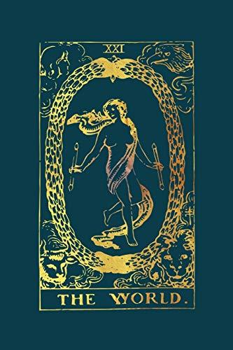 The World Tarot Card Journal: Gold Tarot Card Notebook...