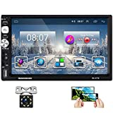 Hikity Double Din Android Car Stereo with Bluetooth 7 Inch Touch Screen Radio FM AM RDA Tuner...