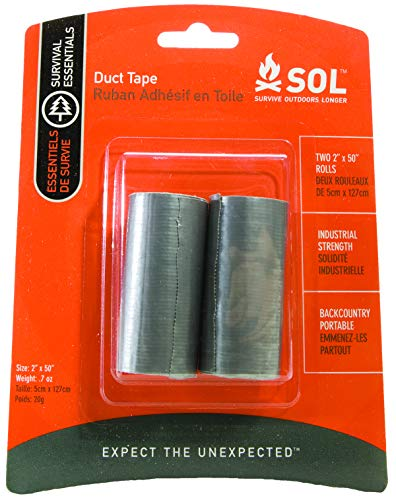 """S.O.L. Survive Outdoors Longer Duct Tape, 2"""" x 50"""", 2 Count"""