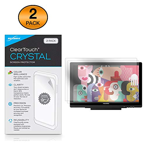 Huion KAMVAS GT-191 V2 Screen Protector, BoxWave [ClearTouch Crystal (2-Pack)] HD Film Skin - Shields from Scratches for Huion KAMVAS GT-191 V2
