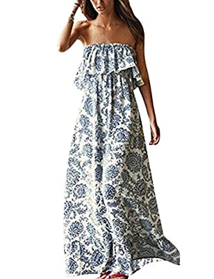 Cotton blend,a little thin,super soft and feel cool in this hot summer.Hand wash recommended, hang dry Daringly sexy and charming, making you attractive!Look perfect with this maxi dress by pairing it with your favorite necklace and sandal Feature: b...