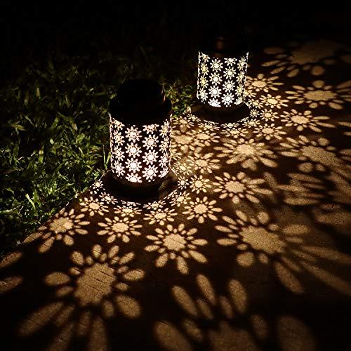 Hanging Solar Lanterns Outdoor Solar Lights Retro Metal...