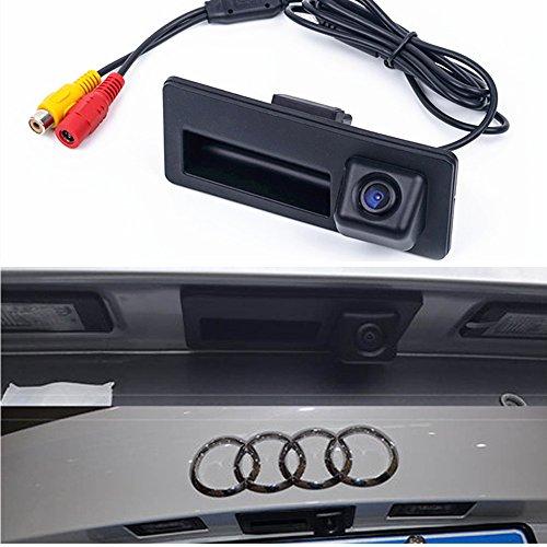 HDMEU Telecamera posteriore per auto per Audi A3 A4 A4L S4 A5 S5 Q3 Q5 A6 A7 A6L A8L S6 S7 RS5 VW Golf VI Tiguan Touareg Sharan Passat Variant Sagitar Skoda Rapid Octavia Fabia Sharan Superb