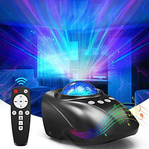 Galaxy Star Projector Sky Light - Night Light with Remote Control,Music Speaker,Voice Control,White Noise,Light up Ceiling with Aurora & Timer Function for Kids Adult Room Decor/Birthday/Party