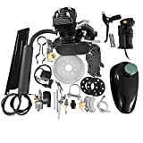 MOTOOS 50cc 2-Stroke Motor Engine Kit Black Fit for Motorized Bicycle Bike Petrol Gas Engine