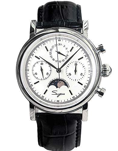 SU1908SW MoonPhase Master Seagull ST1908 Uhrwerk Saphirkristall Herren Chronograph Mechanische Uhr 1963