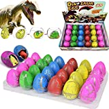 Oceanwing Easter Hatching Dinosaur Egg Toys 24 Pack 2.3' Extra Large Easter Eggs That Hatch in Water Novelty Easter Magic Egg Party Easter decorations Favor Supplies