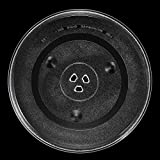 BlueCatELE 12 3/8 inch Microwave Glass Turntable Plate Replacment Compatible for Hamilton Beach and Panasonic