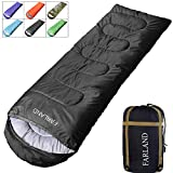 FARLAND Rectangular Sleeping Bag 0 Degree centigrade 20 Degree F,Cold Weather 4 Season for Adults, Youth, Kids, Unisex for Camping, Hiking, Waterproof, Traveling, Backpacking and Outdoors