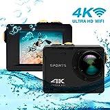 Caméra d'action 4K, Vmotal GSV8580 WiFi Ultra HD 16MP Caméra d'action...