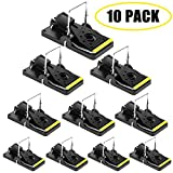 Mouse Trap, Mice Trap That Works Human Power Mouse Killer 100 Mouse Catcher Quick Effective Sanitary Safe for Families and Pet 10 Pack