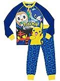 Pokémon Ensemble De Pyjamas Garçon - Bien Ajusté - (Bleu) Multicolore - Taille 12 - 13 Ans