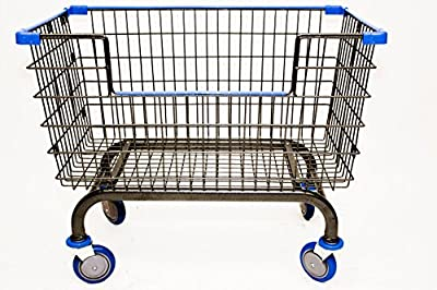 """Premium Steel Construction Cart (L36""""xW22""""xD18"""") Dual Support Valet Bar for Easy Load and Removal 5"""" Caster and Axel-Guard Wheels protect against entanglement of lint & threads (patent pending) Rounded + Squared Base Frame for Stability and Durabilit..."""