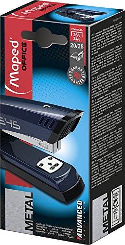 Maped m354512Cucitrice Advanced Collector in metallo fino a 25fogli, colore: blu