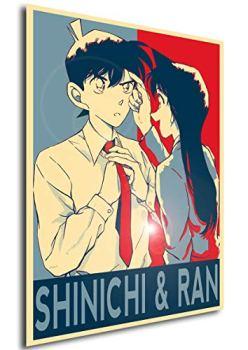 Instabuy Poster - Propaganda - Detective Conan - Shinichi & Ran A3 42x30