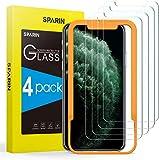 SPARIN [Lot de 4 Verre Trempé Compatible avec iPhone 11 Pro/X/XS, Gabarit...