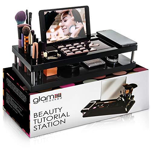 Glamsmacked Maquillaje y Belleza Tutorial Estación con Tablet iPad y Teléfonos Áreas y...