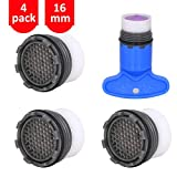 1.2GPM Faucet Replacement Part Insert Filter, Restrictor Aerator, 16.5mm/0.65Inch, 4 Pack