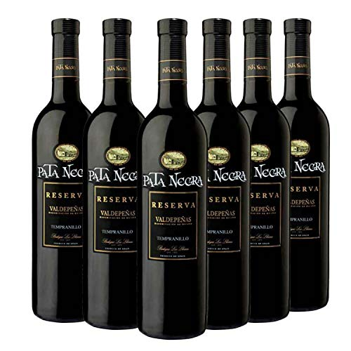 Pata Negra Reserva Vino Tinto D.O Valdepeñas - Caja de 6 Botellas x 750 ml