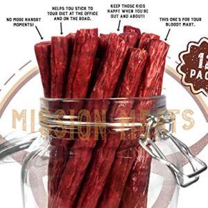 Mission Meats Keto Sugar Free Grass-Fed Beef Snacks Sticks Non-GMO Gluten Free MSG Free Nitrate Nitrite Free Paleo… 43