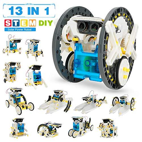 Pickwoo Stem Robot Toy, Kits de Robot Solar 14 en 1 para niños...