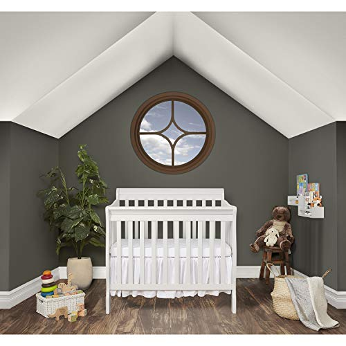 Product Image 2: Dream On Me Aden 4-in-1 Convertible Mini Crib in White, Greenguard Gold Certified