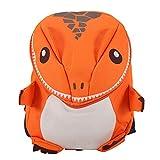 Mochila para niños - Cartón Mochila escolar para niños Mochila escolar con dinosaurio animal 3D(naranja)