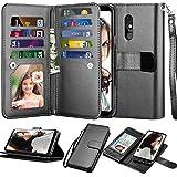 LG Stylo 5 Wallet Case, LG Stylo 5X Case, LG Stylo 5V/Stylo 5+ Plus Case, Njjex [9 Card Slots] PU Leather ID Credit Holder Folio Flip [Detachable][Kickstand] Magnetic Phone Cover & Lanyard [Black]