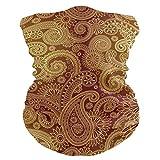 Golden Damask Pattern Headband Womens Bandana Multifunctional Mens Balaclava, Neck Warmer, Face Mask, Tube Headwrap