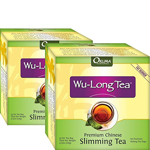 Premium Chinese Slimming WuLong Tea - All-Natural Weight Loss, Diet, Detox and Anti-Acne Oolong tea - Pure WuYi Oolong - 2 month supply with 120 tea bags 1