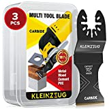Kleinzeug Carbide Oscillating Tool Blades - Multitool Oscillating Saw Blades Universal Fit - Hard Material Cutting Kit for Metal, Wood and More - Rockwell, DeWalt, Porter-Cable, Dremel, Set of 3