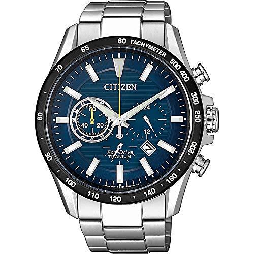 CITIZEN Herren Analog Eco-Drive Uhr mit Super Titanium Armband CA4444-82L