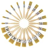 US Art Supply 20 Pack of Assorted Size Paint and Chip Paint Brushes...