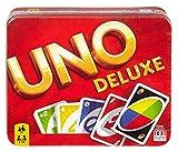 Mattel Games K0888 UNO Deluxe Gioco di Carte per 2-10 giocatori, 7 anni+