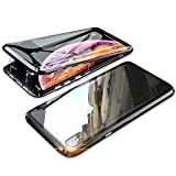 YSAN iPhoneX iPhoneXs ケース アルミバンパー 両面ガラス 360度全面保護 クリアフルカバー 表……