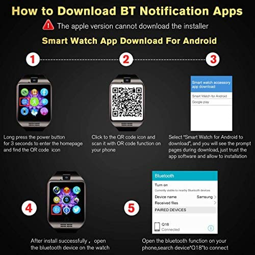 Mahipey Smart Watch,Smartwatch for Android Phones,Smart Watches Touchscreen with Camera Bluetooth Watch Cell Phone with Sim Card Slot Compatible Samsung Ios Phone 12 12 Pro 11 10 Men Women 17