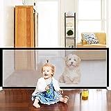 Tragbar Hunde Türschutzgitter, Faltbar Hundeschutzgitter, Absperrgitter für Haustier Hunde Katzen, Türschutzgitter Hunde, Magic Gate Faltbar, Hundeschutzgitter Absperrgitter (72cm-180cm)