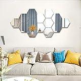 Uoging 12 Pcs Miroir Mural Autocollant Miroirs Muraux Stickers Acrylique...