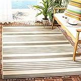 Safavieh Courtyard Collection CY6062-236 Indoor/ Outdoor Area Rug, 5' 3' x 7' 7', Grey/Bone