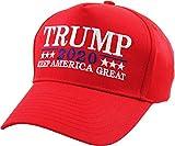 KBETHOS TRUMP018-RED Trump 2020 Hat Cap Keep America Great Make America Great Again KAG MAGA