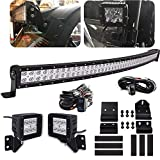 WeiSen Upper Roof 50 Inch 288W High Power Curved LED Light Bar Mount Kit & Front Pillar...